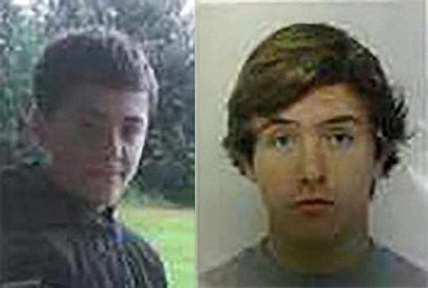 MISSING: Joshua Shaw, left and Kieran Shane Lloyd