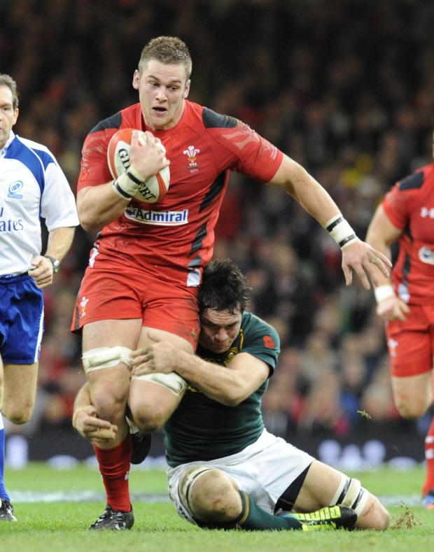 Free Press Series: Dan Lydiate is tackled by Francois Louw (2397193)