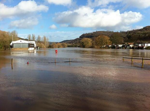 Free Press Series: Grounds of Monmouth Rowing Club under water today