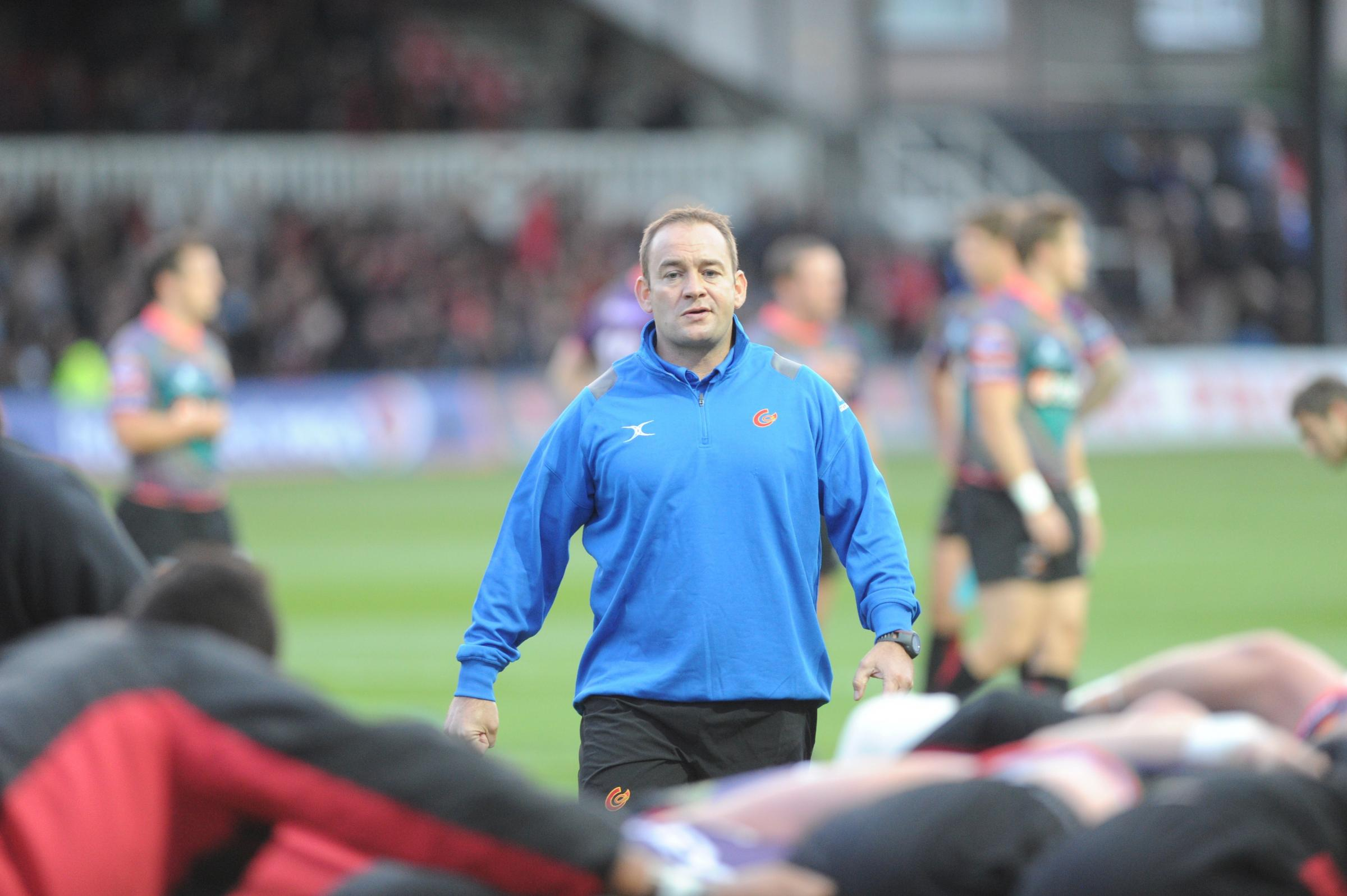 POSITIVE: Newport Gwent Dragons head coach Darren Edwards