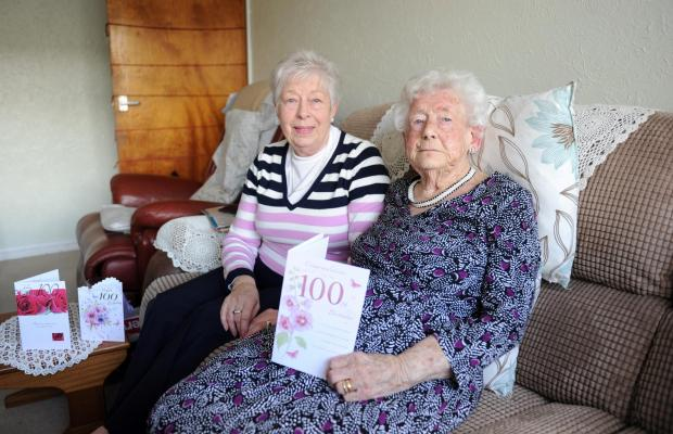 BIRTHDAY CELEBRATIONS: Florence Thomas, who is to  celebrate her 100th birthday with friends and family, pictured is with her daughter Barbara Williams