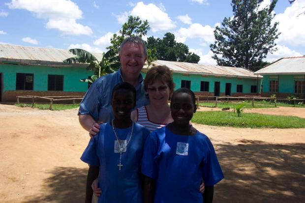Free Press Series: TRUSTEES: Gareth and Kath Whitcombe at the Mother Janet Primary School, Uganda