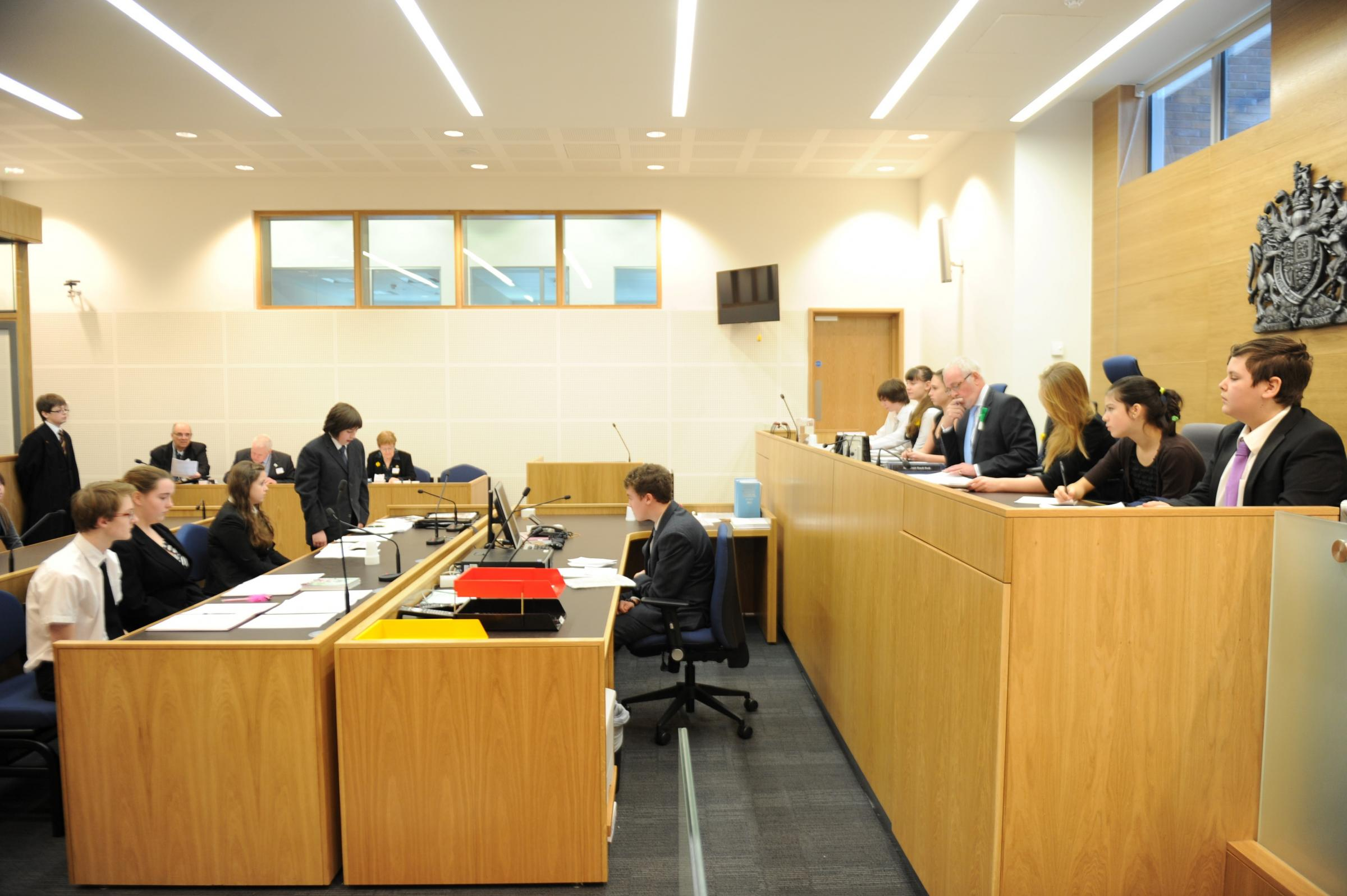 Torfaen pupils take part in mock trial