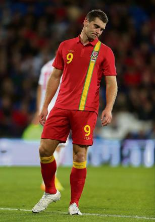 NATIONAL SERVICE: Burnley striker Sam Vokes will lead the line against Iceland tonight