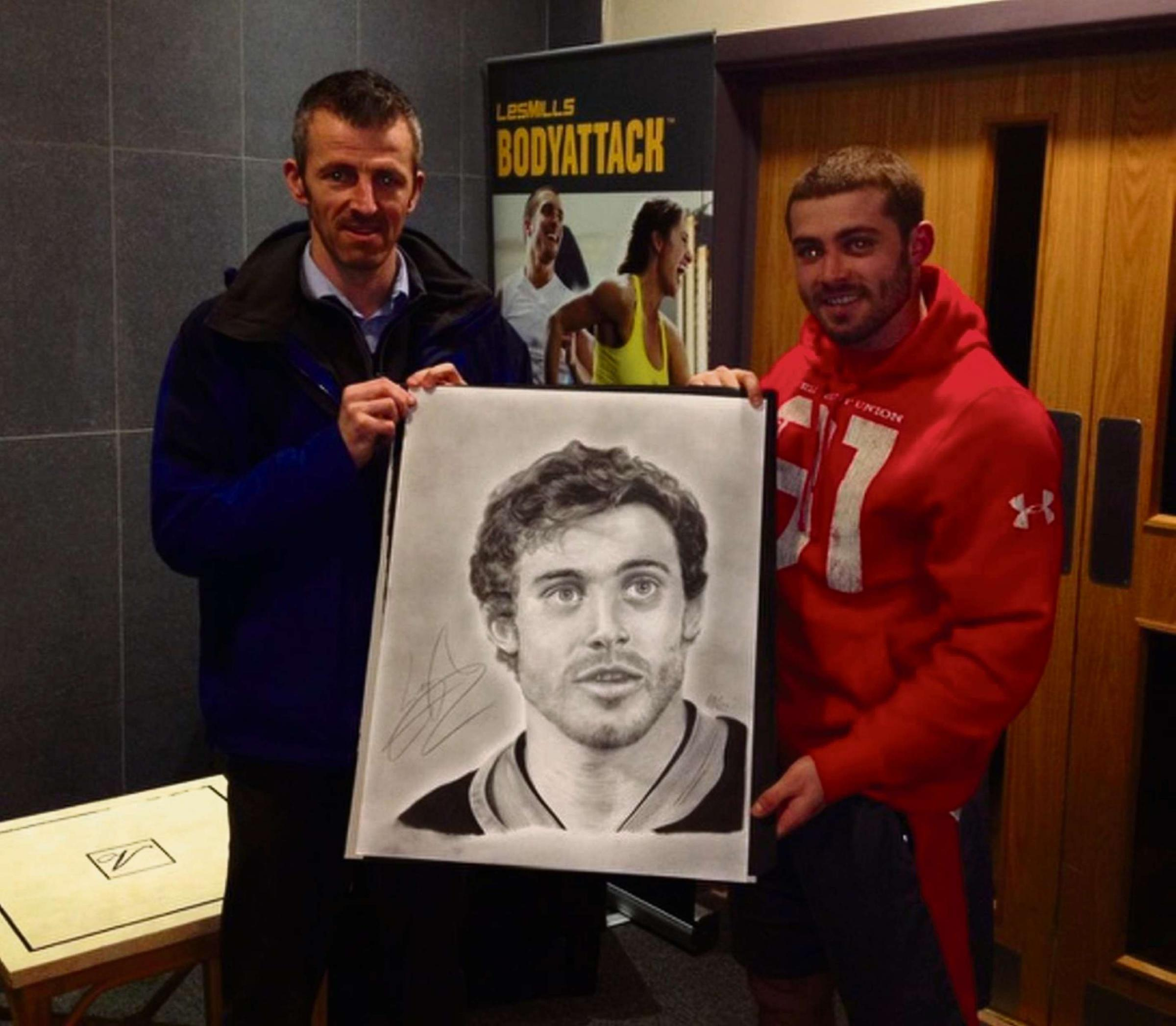 Cwmbran man's rugby star sketch earns £1k for Luca
