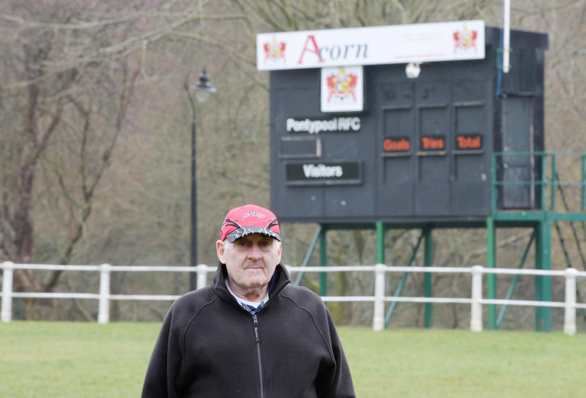 Vandals continue to target Pontypool Rugby Club, most recently the iconic scoreboard.  UPSET  Lifelong Pooler volunteer Terry Simons (4441508)