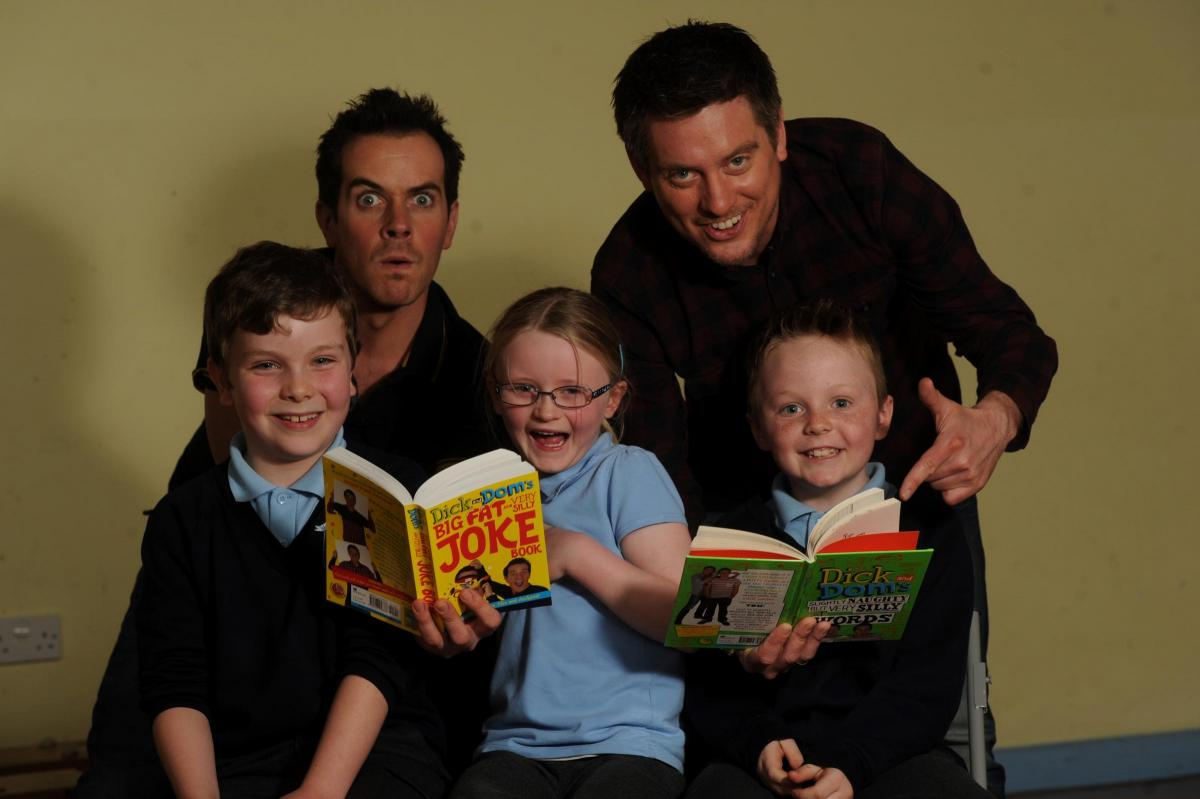 Dick and Dom visit Magor Primary