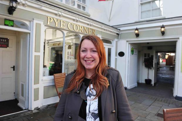 Free Press Series: MM 27.1.12 FP ALISON BEASLEY OF THE PYE CORNER AND WHITE LION CHEPSTOW WHO HAS BEEN ELECTED CHAIR OF THE LVA CHEPSTOW (4830552)