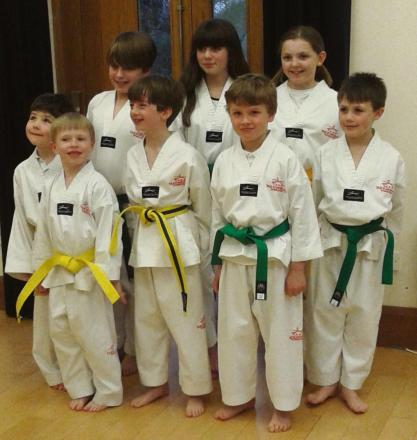 LITTLE BELTERS: Young students from the Shirenewton School of Tae Kwon-Do