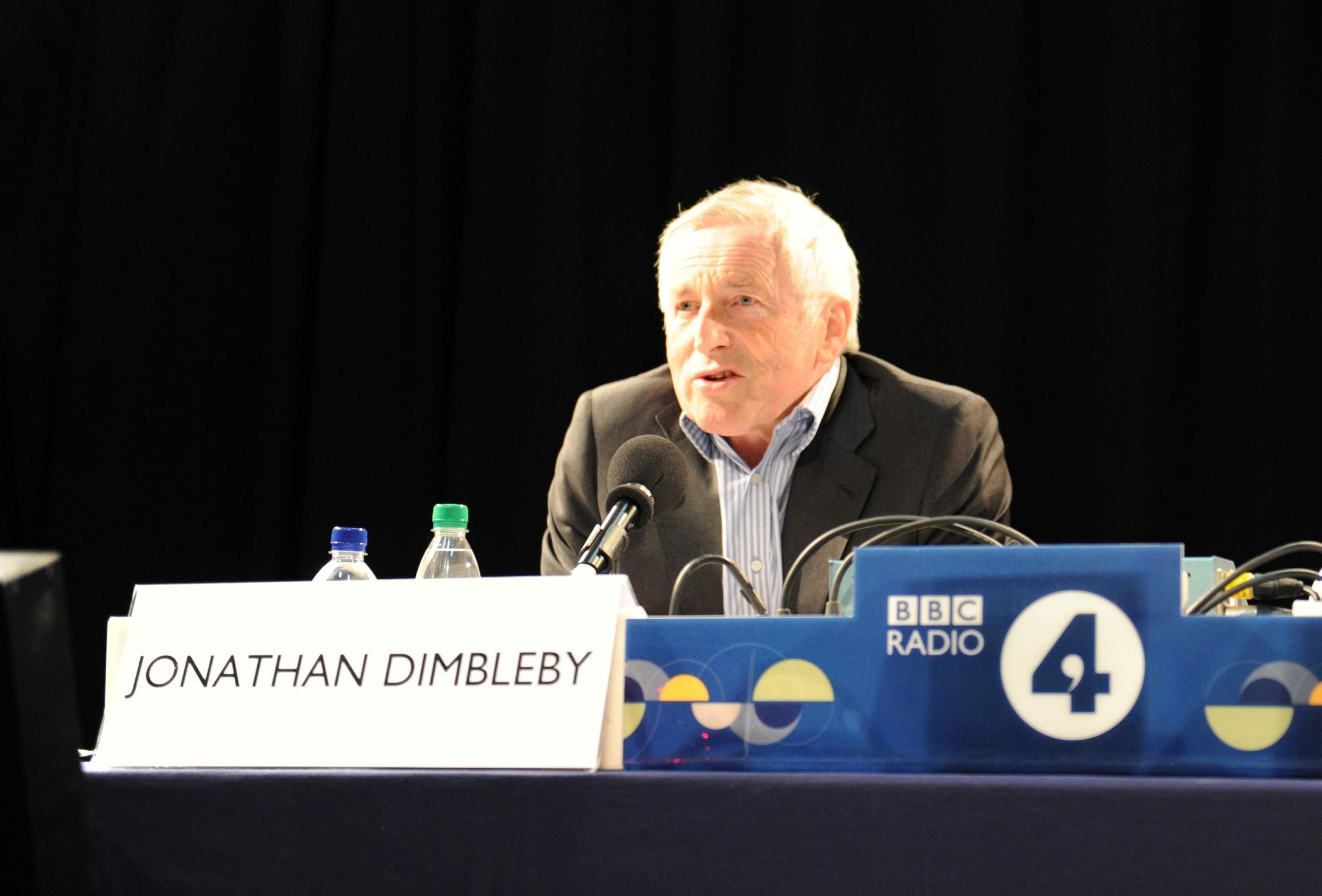 BBC Radio 4's Any Questions? programme broadcasted live from the Drill Hall in Chepstow.  Pictured is the programme chair Jonathan Dimbleby. (5165146)