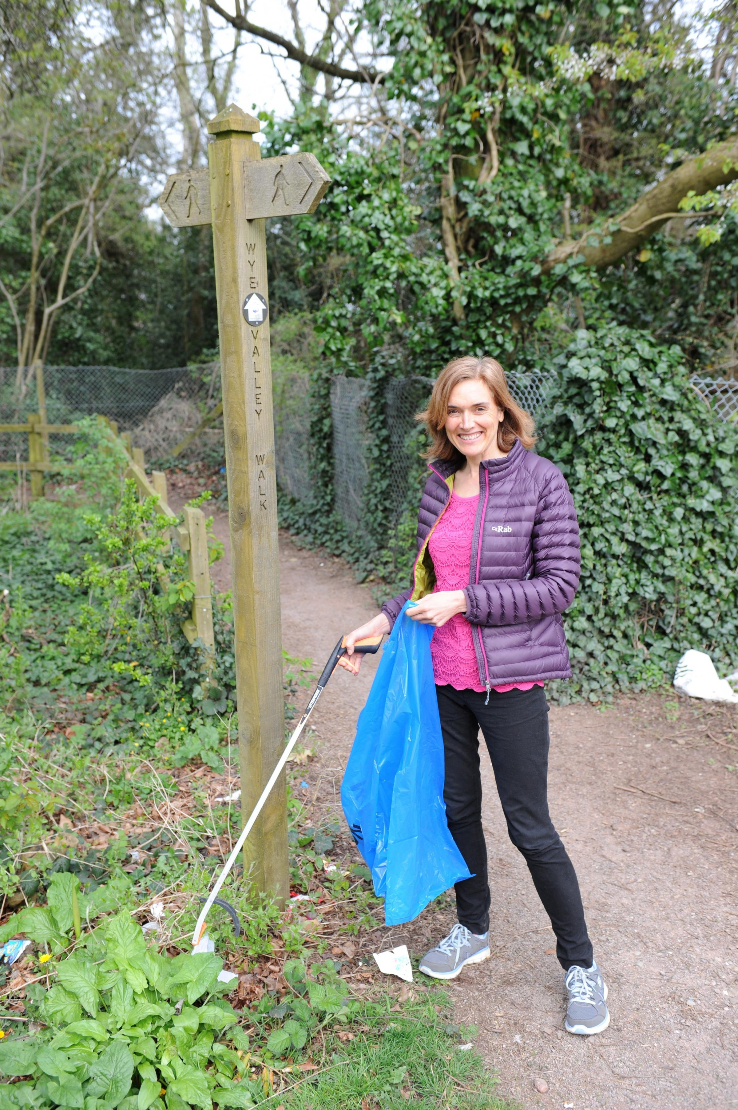 A Chepstow woman, Niki Morgan, is doing a sponsored litter pick along the Wye Valley walk to raise