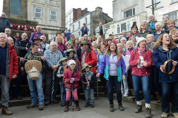Chepstow Walkers are Welcome Festival. The Singing Club of Chepstow performing at the opening of the Chepstow Walkers Festival. (5375975)