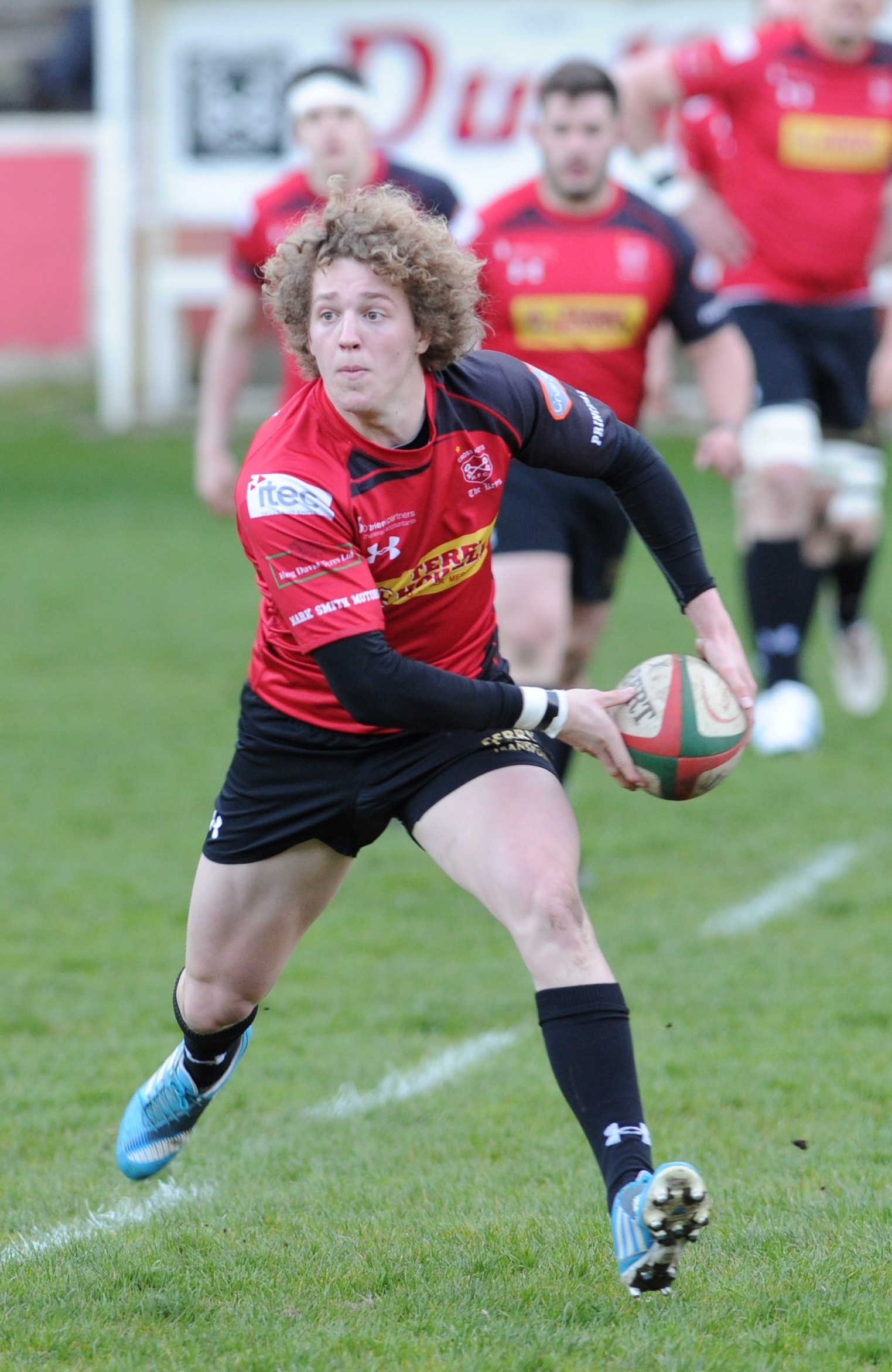 DRAGONS CALL: Angus O'Brien, in action for Cross Keys last season