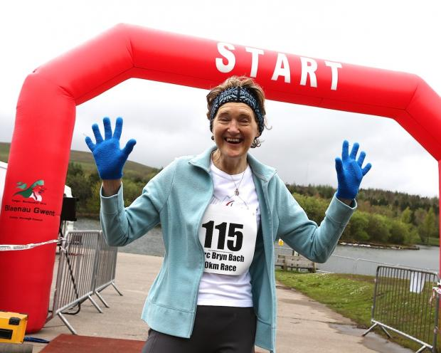 Free Press Series: HAPPY: A runner at the Parc Bryn Bach Hospice of the Valleys 10K race and 5K fun run (Picture by huwfairclough.co.uk)