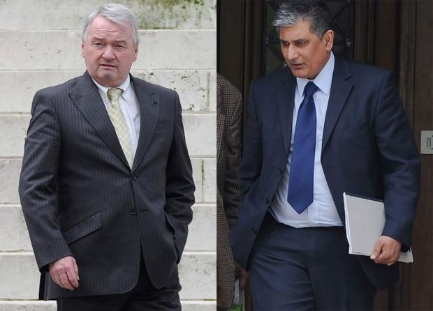 ON TRIAL: Gary Inchliffe and Farooq Dastgir