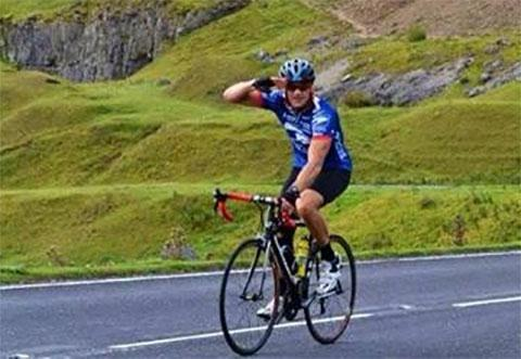 CHARITY CYCLE CLIMB: Allen Cameron