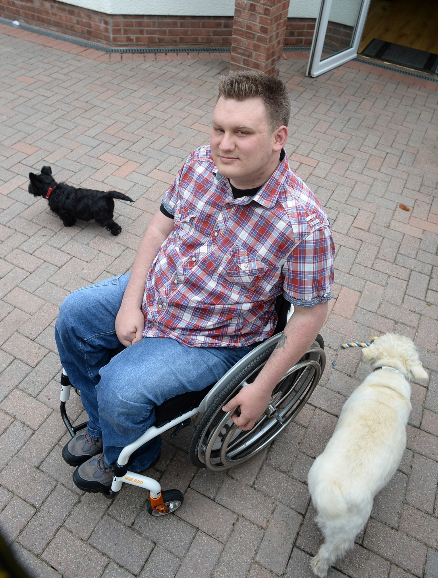 UNAIDED Dan in his specially adapted wheel chair needs 24/7 care (5868259)