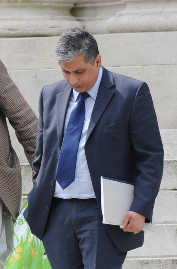 Free Press Series: Pictured leaving Cardiff Crown Court is Torfaen Council Officer Farooq Dastgir. (5713090)