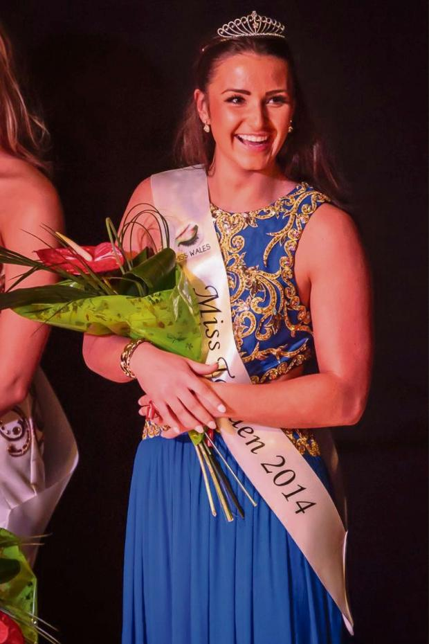 Free Press Series: Molly Webb being crowned Miss Torfaen