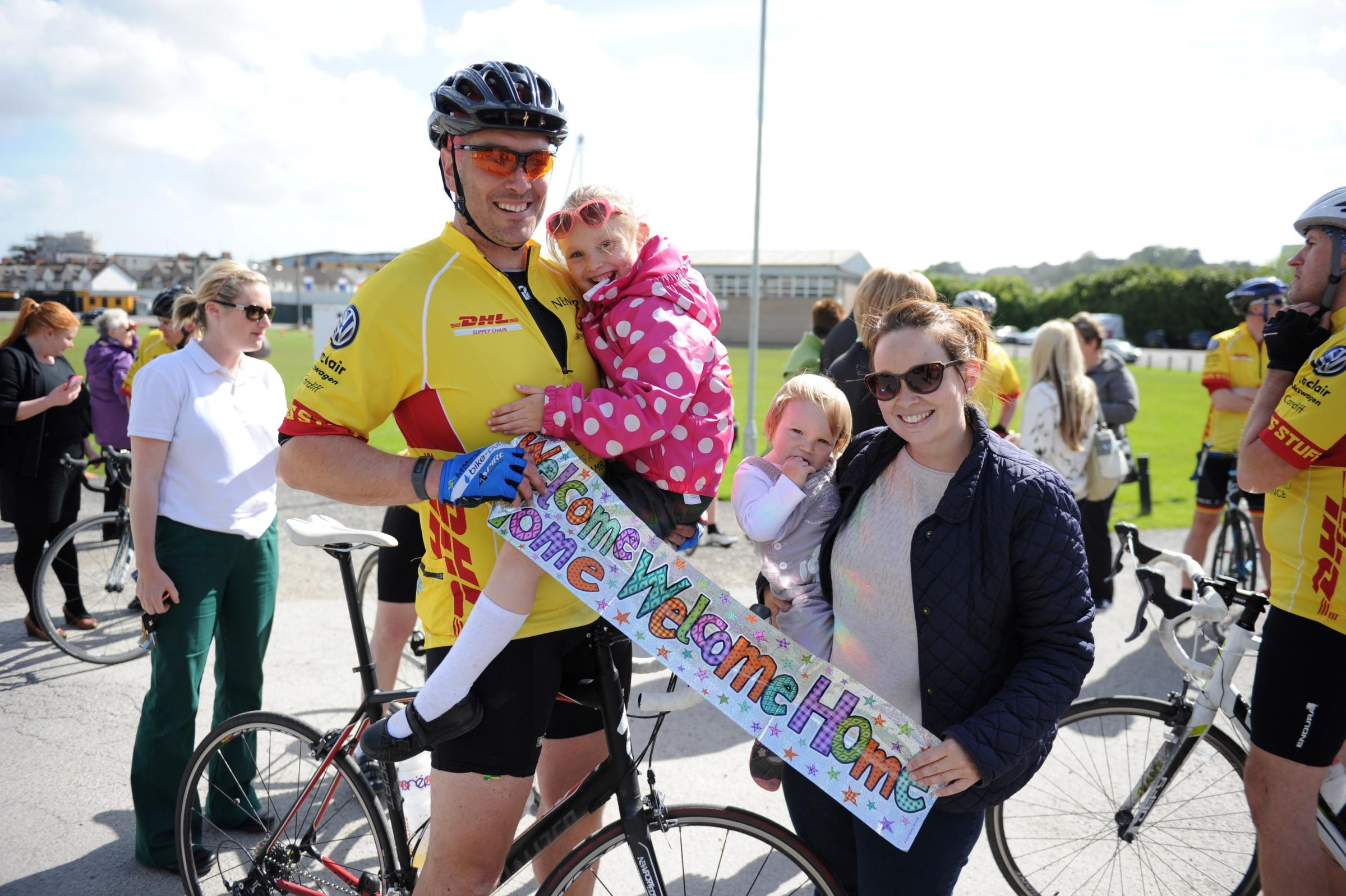 Cwmbran cyclist finishes 500km charity trek