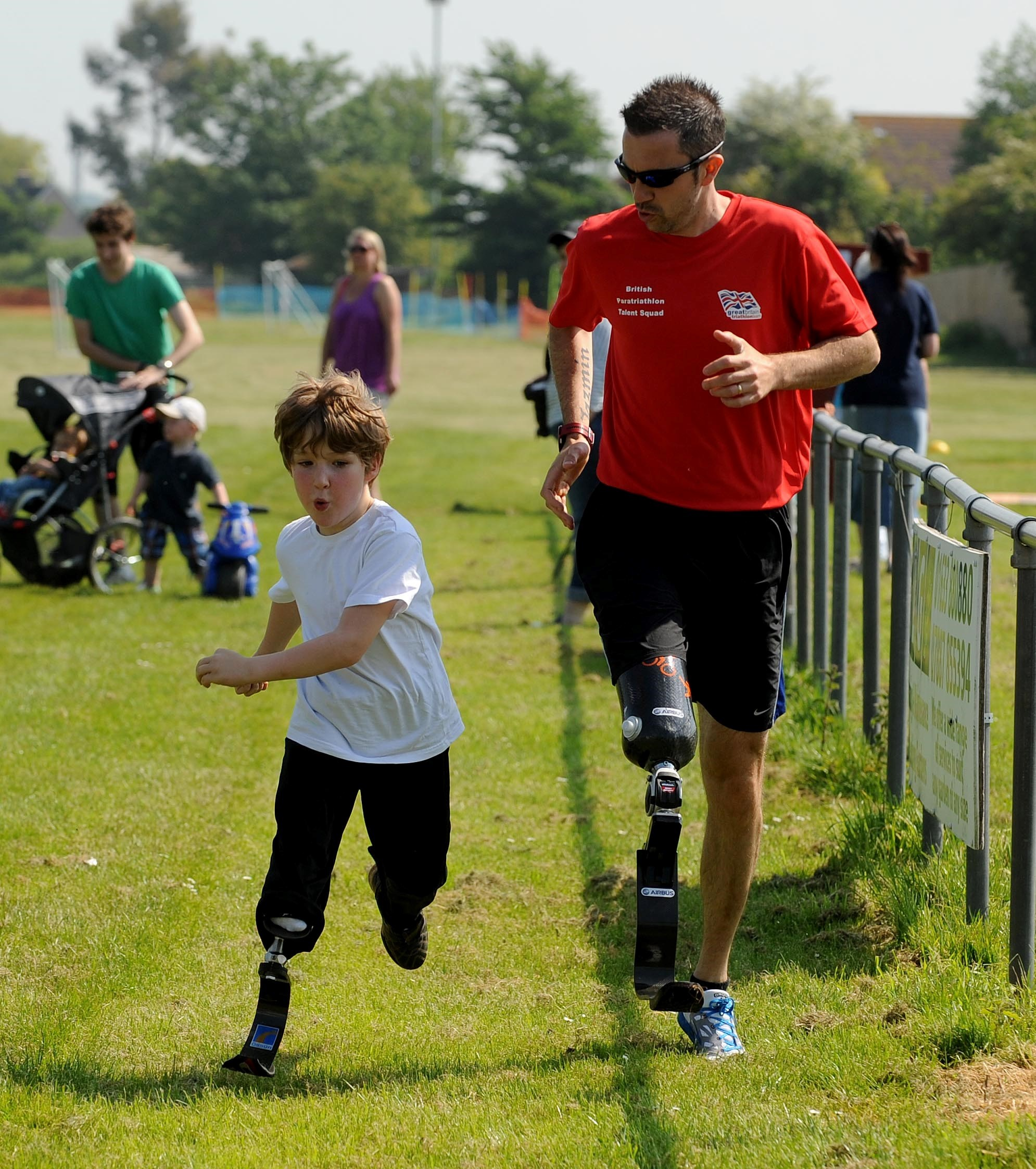 Monmouth bladerunner, six, finishes his first ever race at Undy fun run