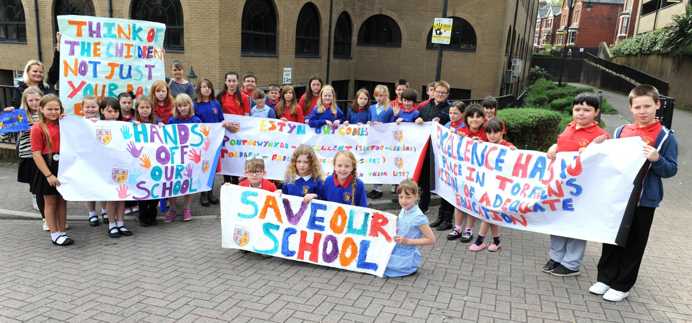 Pupil protest can't save Pontypool school