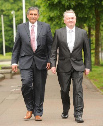 CLEARED: (L-R) Farooq Dastgir and Gary Inchliffe after they were found not guilty