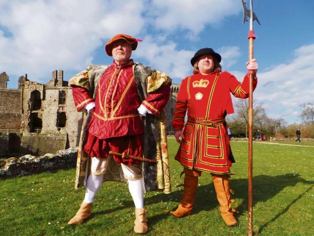 Will you spot Henry VIII around Raglan Castle?