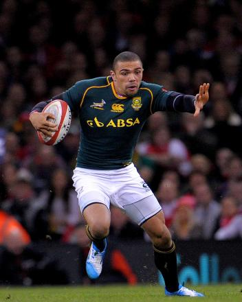 TRY SCORER: Bryan Habana dashed over for