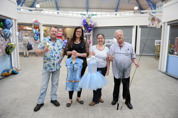 MARKET TRADERS: (From left) David Norman, Gemma Pugh, Fiona Gallear and Adrian Snelgrove