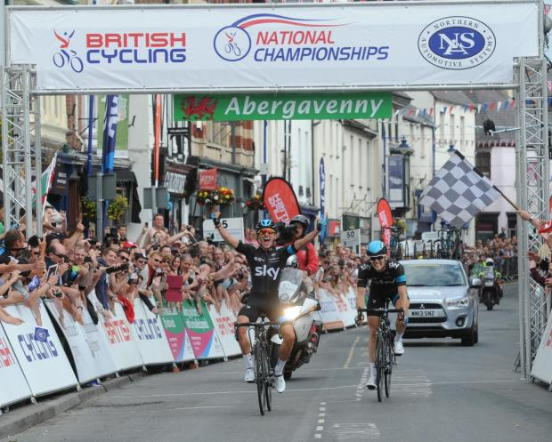 Peter Kennaugh beats teammate Ben Swift to win the National Road Race titile (7656277)