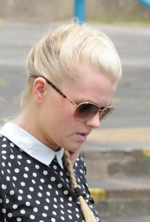 Pictured is Taylor Jay Mcdonnell, 20, arriving at Cwmbran magistrates court. (7803479)