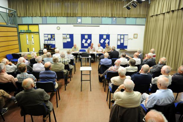The Settlement Education Centre in Pontypool, is under threat after council announced a restructure of services it provides.  Pictured is main hall being used by the retired mens society of Pontypool. (7976730)