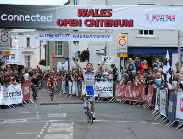 COMING SOON: Graham Briggs winning the Wales Open Criterium last year at Abergavenny (Picture courtesy of Bill Owen)