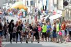 The Pasty Heaven team take part in the Monmouth bed race (8639475)