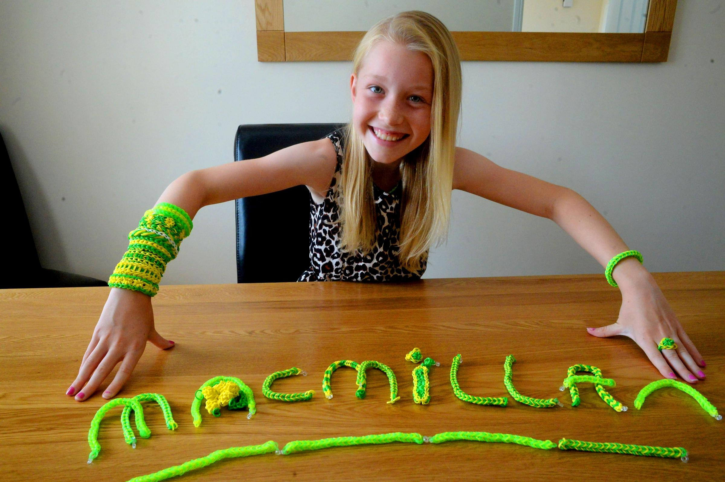 Cwmbran girl makes loom bands for cancer cause