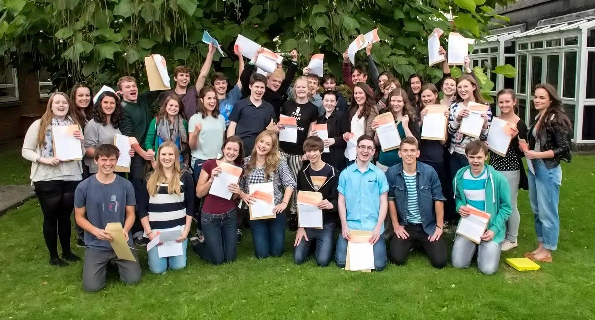 Monmouth Comprehensive pupils celebrating GCSE results (9552267)