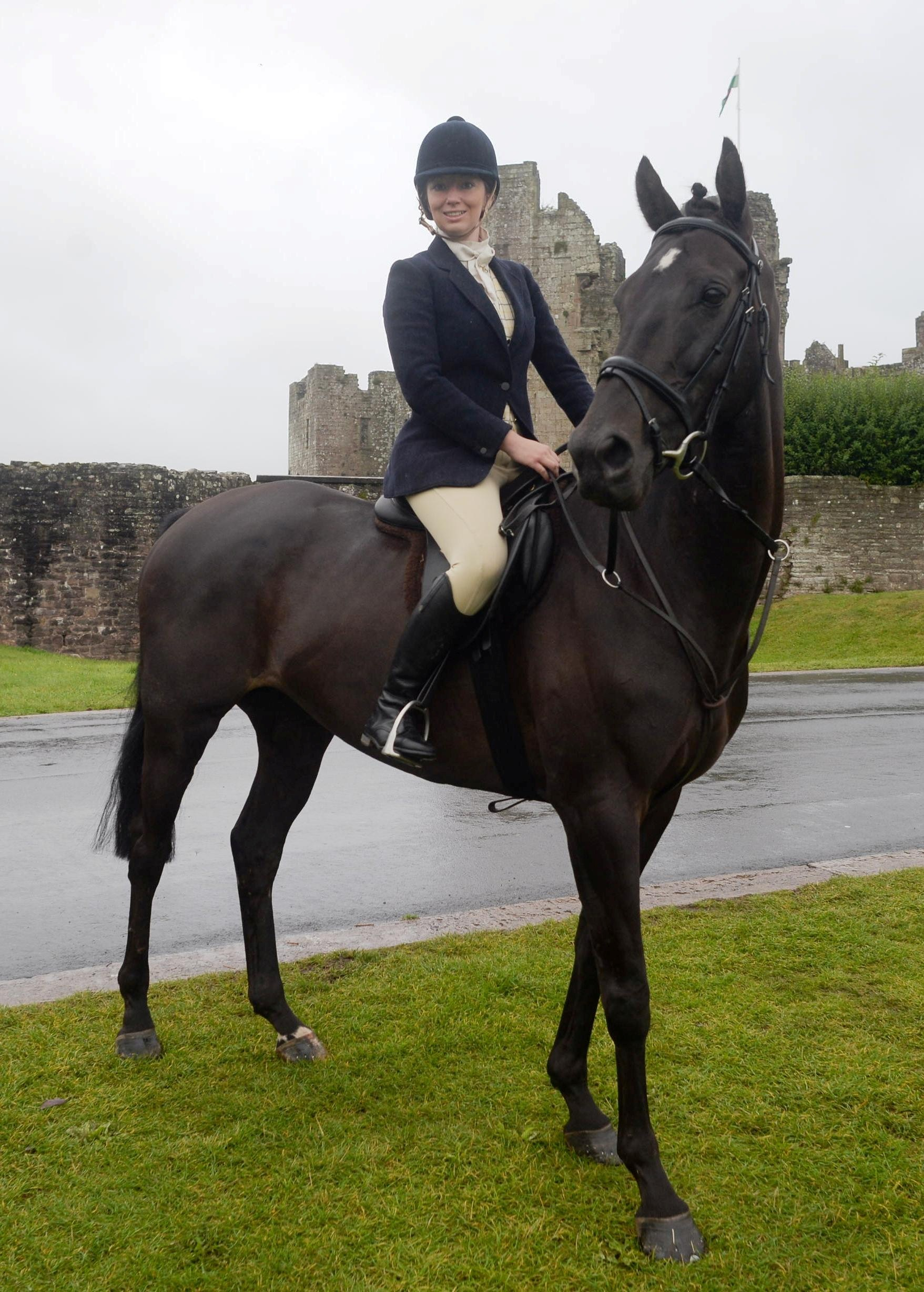 QUEEN OF THE CASTLE  Hannah Barry, who will be doing a 100 mile sponsored ride on her horse, 'Oscar's Law', to raise money for the Royal Welsh Show, she is the Royal Welsh agricultural society's lady ambassador for the event (9656123)