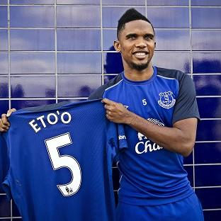Samuel Eto'o could make his Everton debut against former club Chelsea