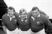 SARRIES FAVOURITES: Former Sarries Bobby Windsor (middle) and Charlie Faulkner (right) with their Pontypool, Wales and Lions teammate Graham Price