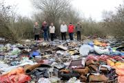 Residents in Caldicot are angry that disused former railway land near Garthalan Drive where people used to walk their dogs has become a dumping ground for fly-tippers.  (18397389)