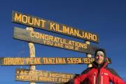 "Cwmbran goalie Richard Jeffries is one of a team who reached the ""roof of Africa"""