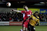 COMPLAINT: Aaron O'Connor in action at Accrington on Friday night