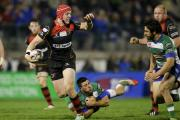 IMPRESSIVE CAMEO: Dragons centre Tyler Morgan made an impression off the bench in Treviso
