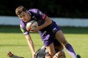 STAYING PUT: Ebbw Vale's Craig Duncan in action against Cross Keys last year