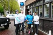 Solid support: Rose Pates, Simon Watts, Alyson MacNamara and Ruth Beards, of Barclays Bank who are taking part in the Dalmatian Bike Ride