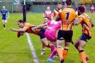 ON THE SCORESHEET: Micki Witts grabbed one of Torfaen Tigers' 10 tries against Leicester Storm