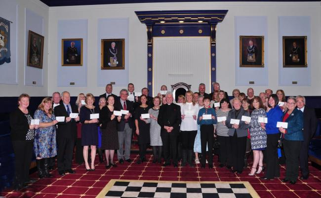 Representatives of 27 charities who received a share of £26,000 in funding from the Freemasons of Monmouthshire (50067515)