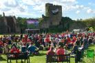 FAN ZONE: Caldicot Castle during the Wales vs Northern Ireland game.