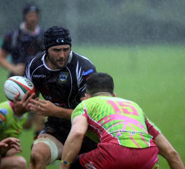 Free Press Series: Bedwas' James Richards takeson Pontypridd's Aled Summerhill